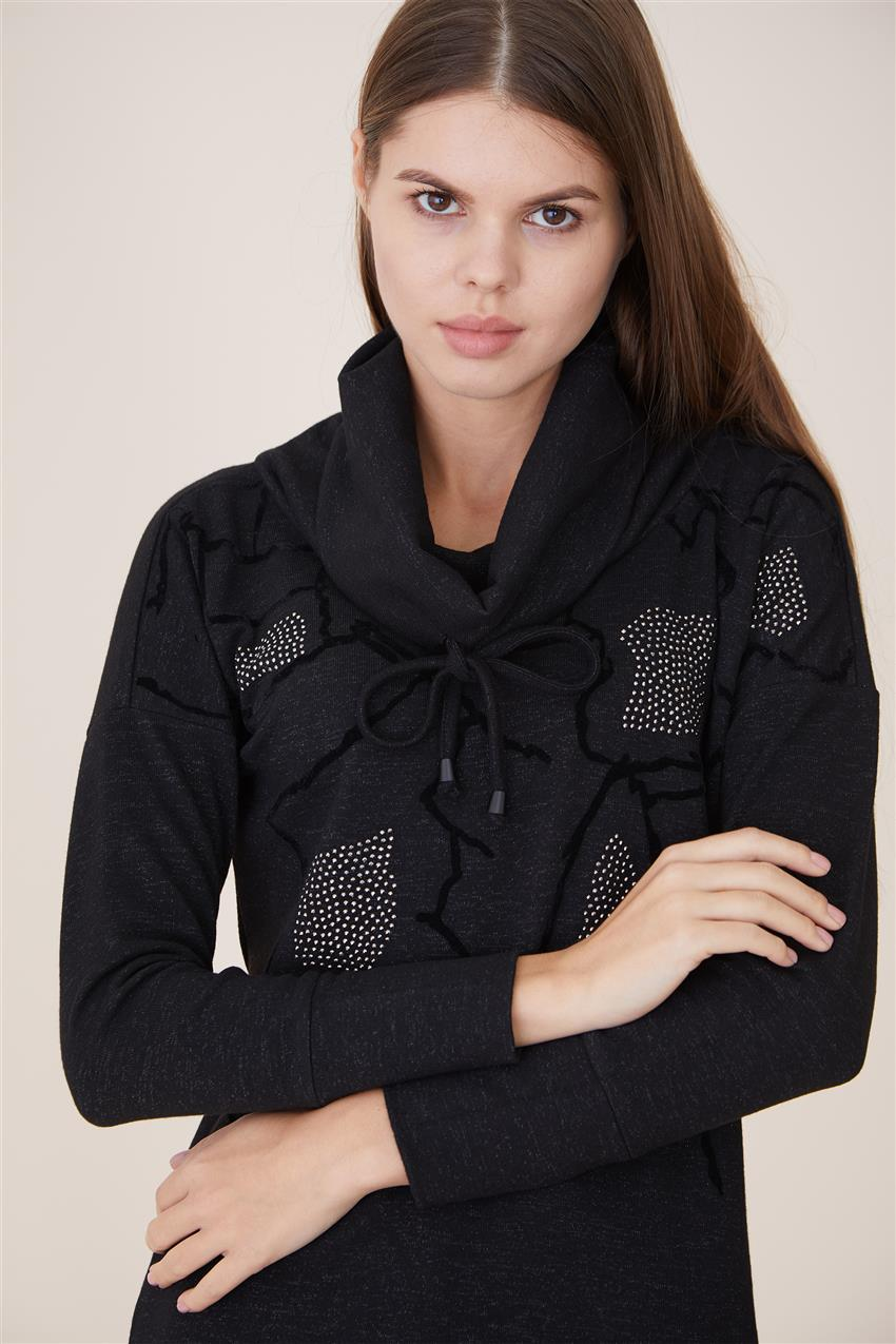 Sweater-Black 6653-01 - 9