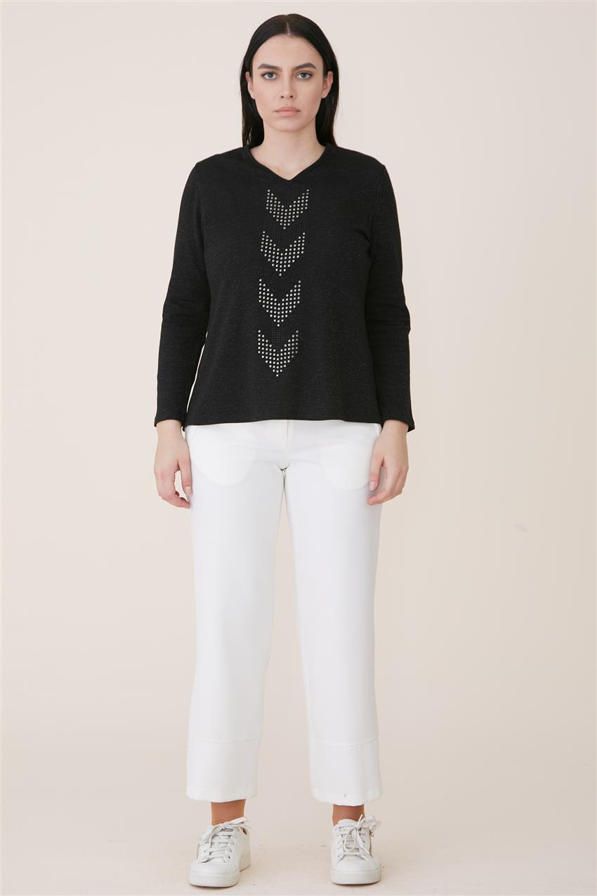 Blouse-Black 6625-01 - 7