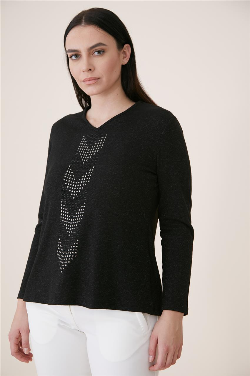 Blouse-Black 6625-01 - 10