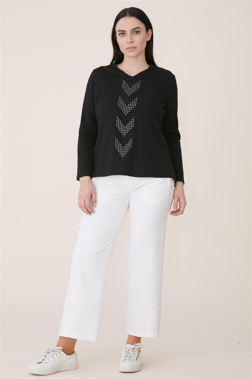 Blouse-Black 6625-01 - 9