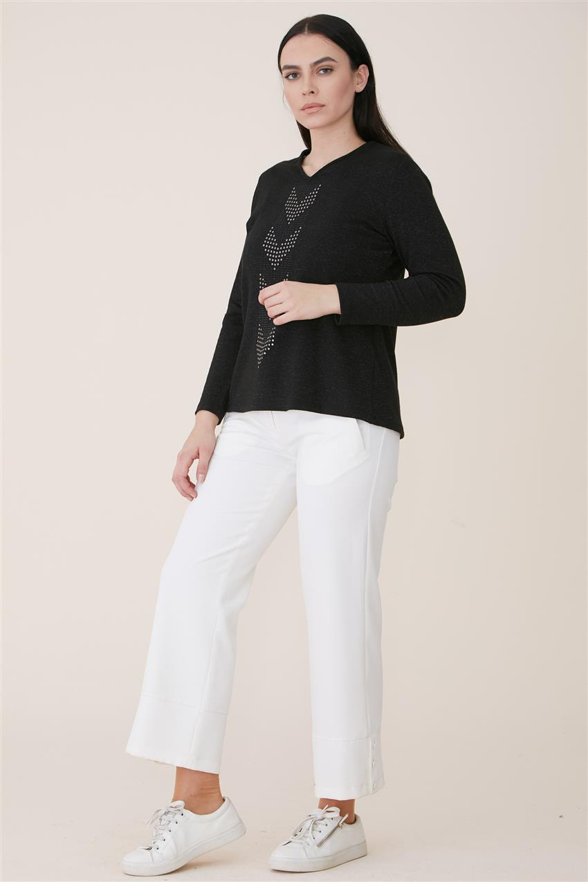 Blouse-Black 6625-01 - 8