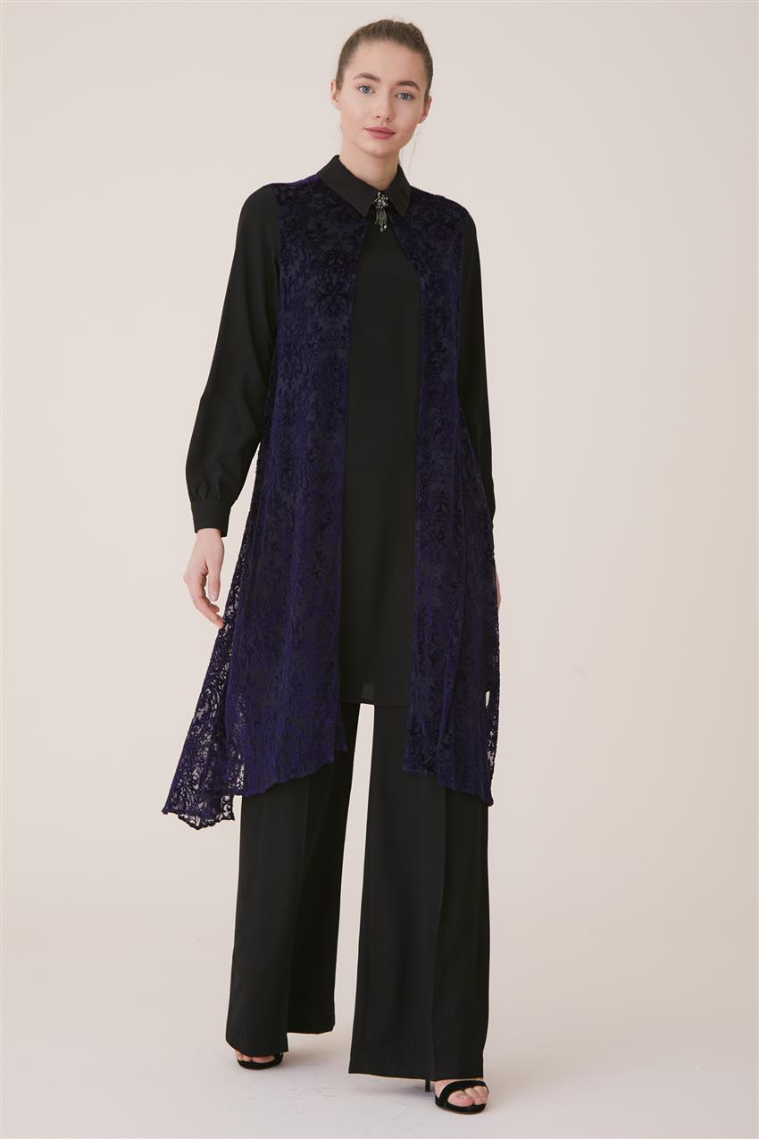 Kyr Suit-Black-Purple KY-A8-76007-1224 - 8