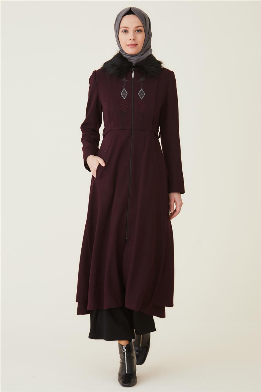 Coat-Claret Red DO-A9-57012-26 - 7