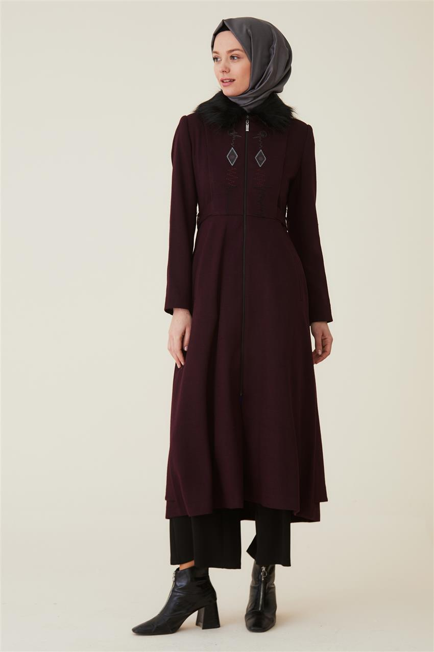 Coat-Claret Red DO-A9-57012-26 - 8
