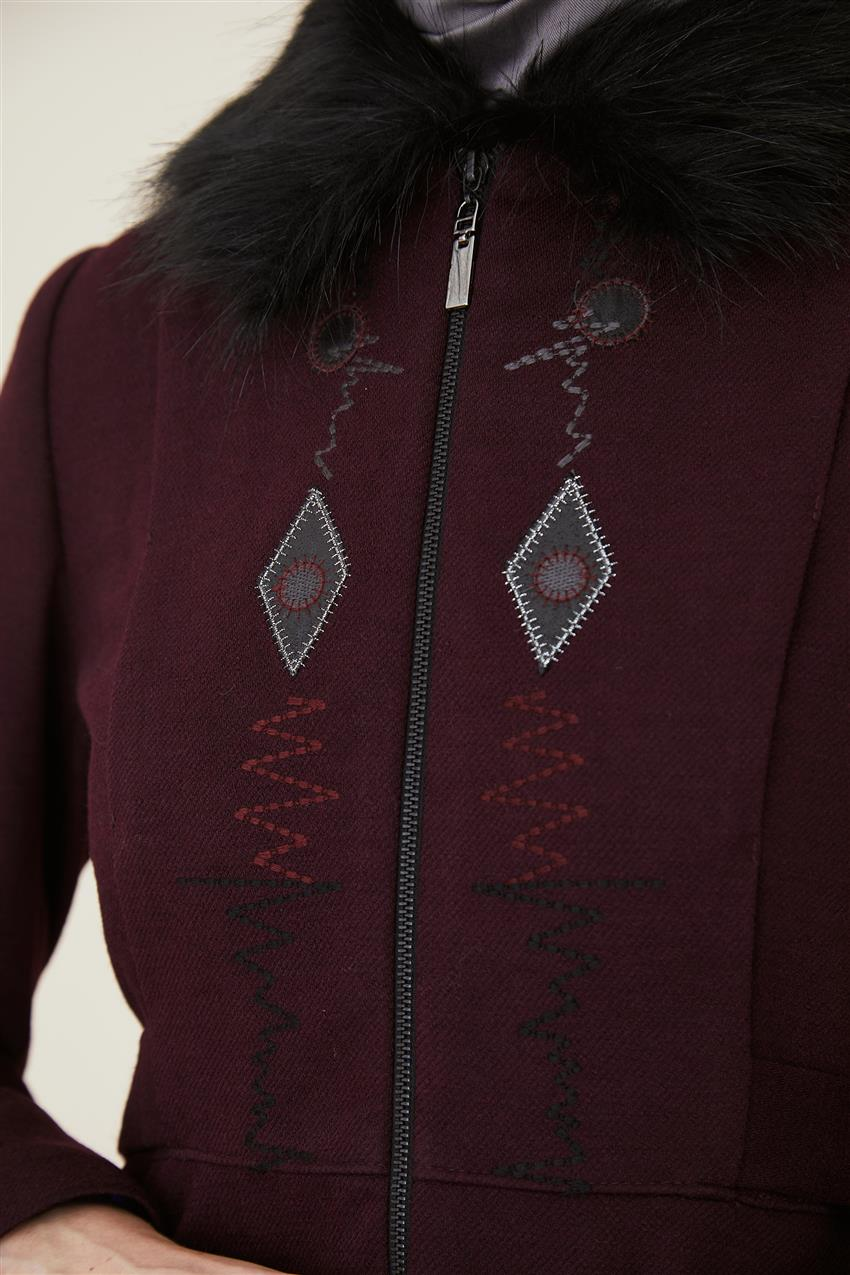 Coat-Claret Red DO-A9-57012-26 - 11