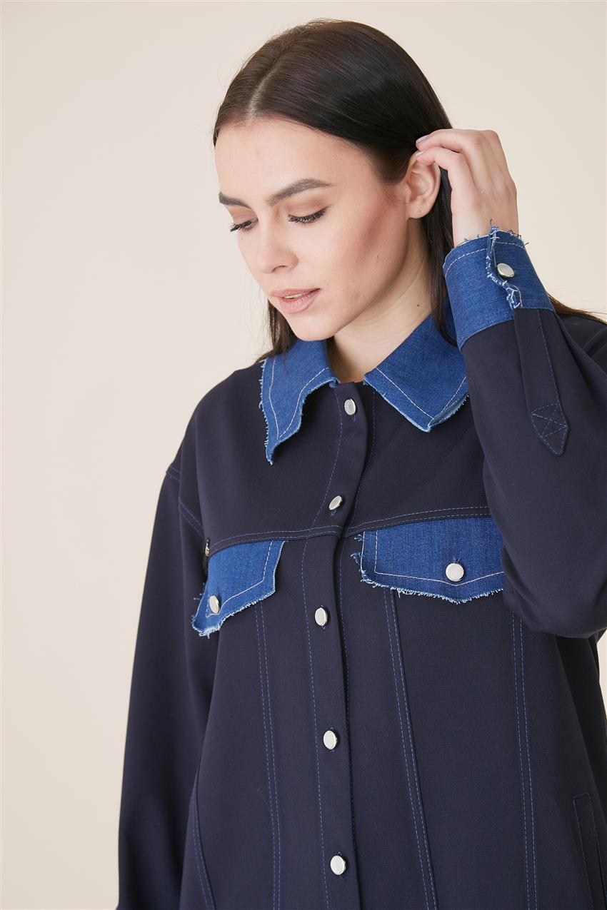 Jacket-Navy Blue KA-A9-13078-11 - 10