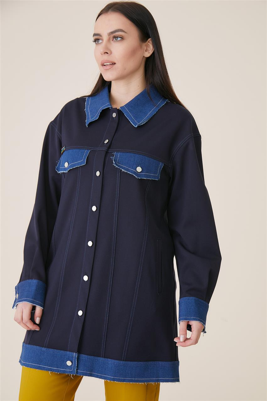 Jacket-Navy Blue KA-A9-13078-11 - 7