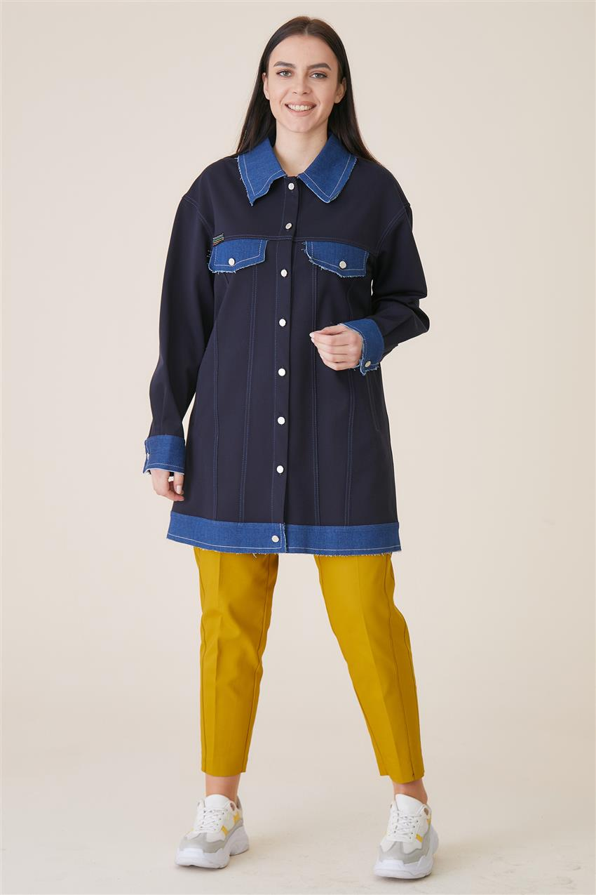 Jacket-Navy Blue KA-A9-13078-11 - 8