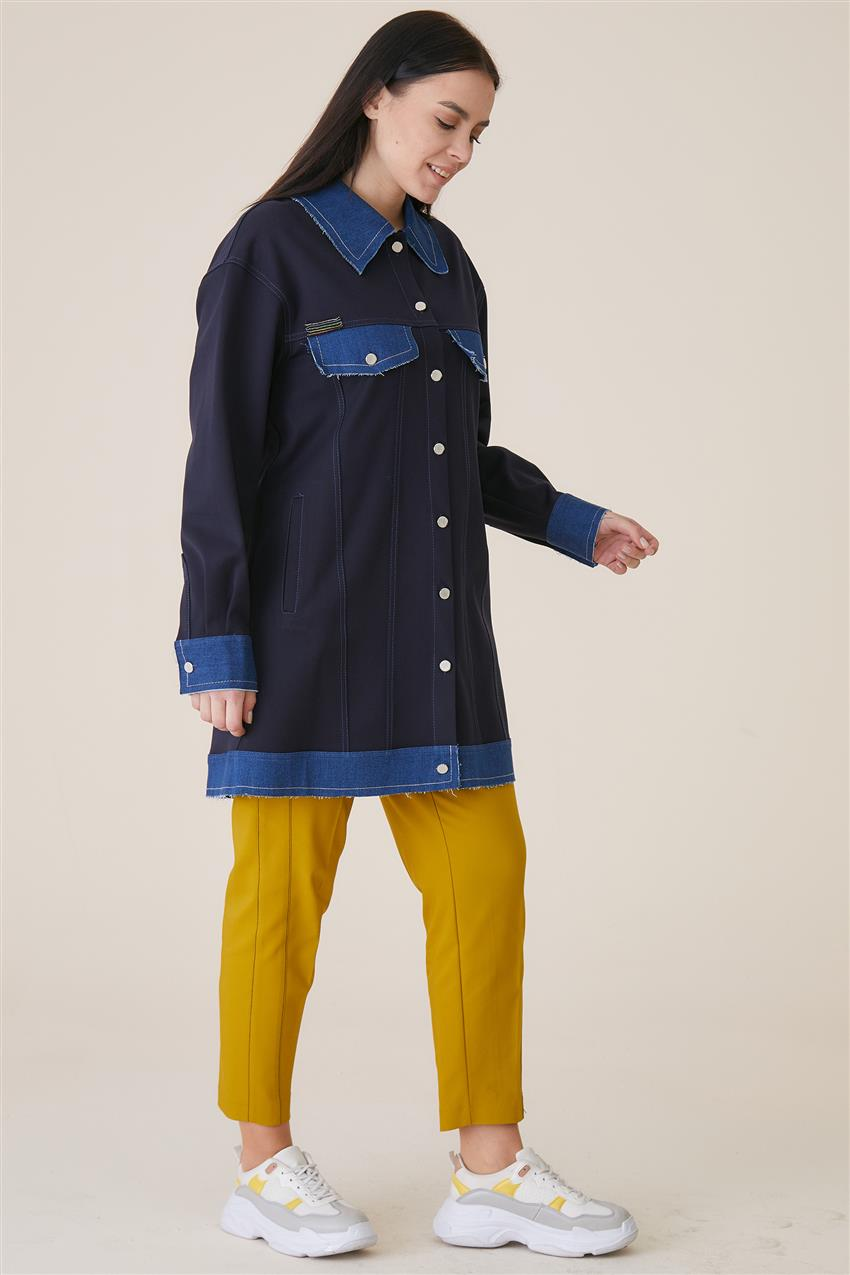 Jacket-Navy Blue KA-A9-13078-11 - 9