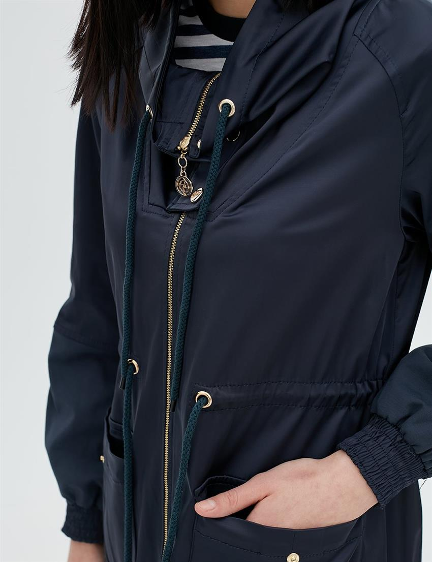 Coat Navy Blue B20 24005 - 9