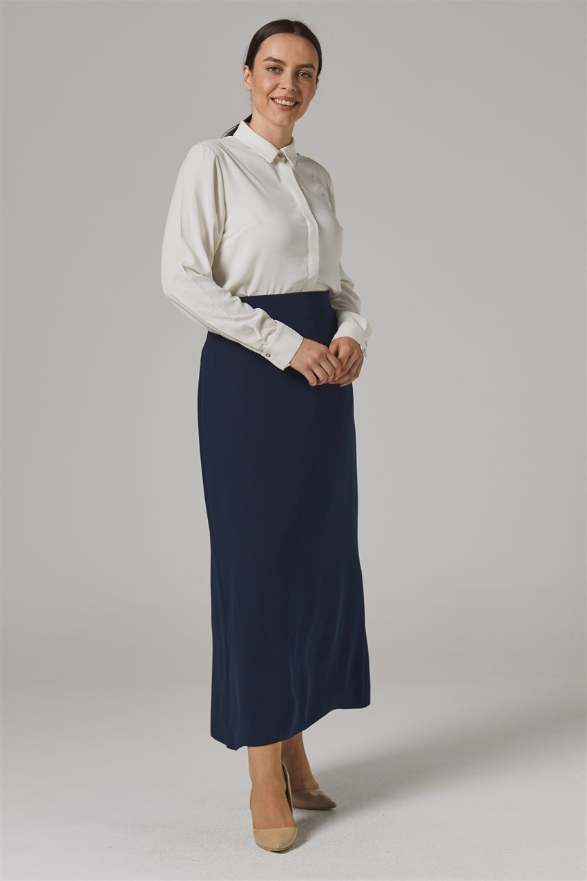 Skirt-Navy Blue 778-17 - 8