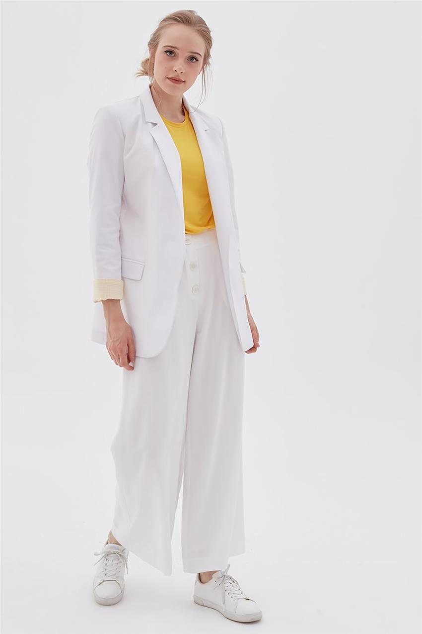 Pants-Optical White KA-B20-19194-02 - 7