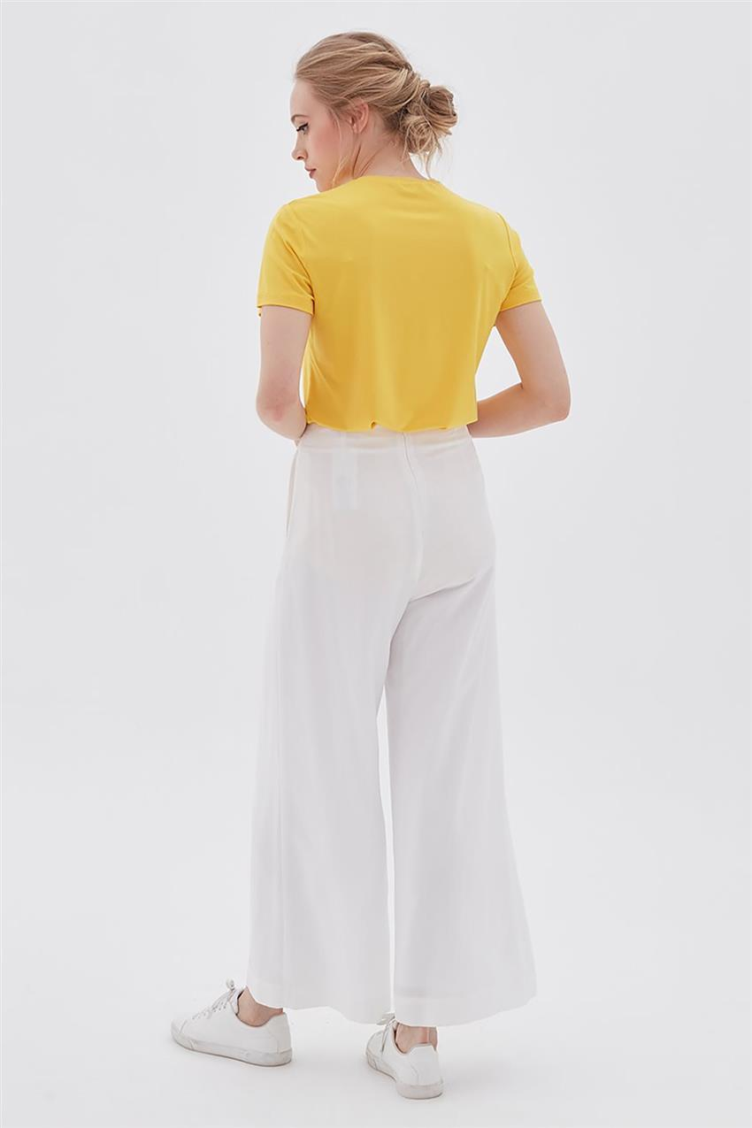 Pants-Optical White KA-B20-19194-02 - 10