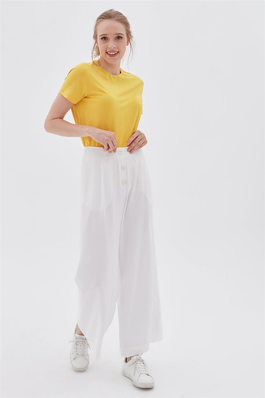 Pants-Optical White KA-B20-19194-02 - 9