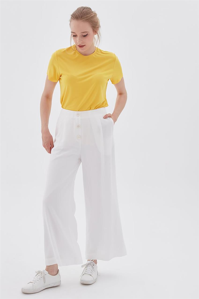 Pants-Optical White KA-B20-19194-02 - 8
