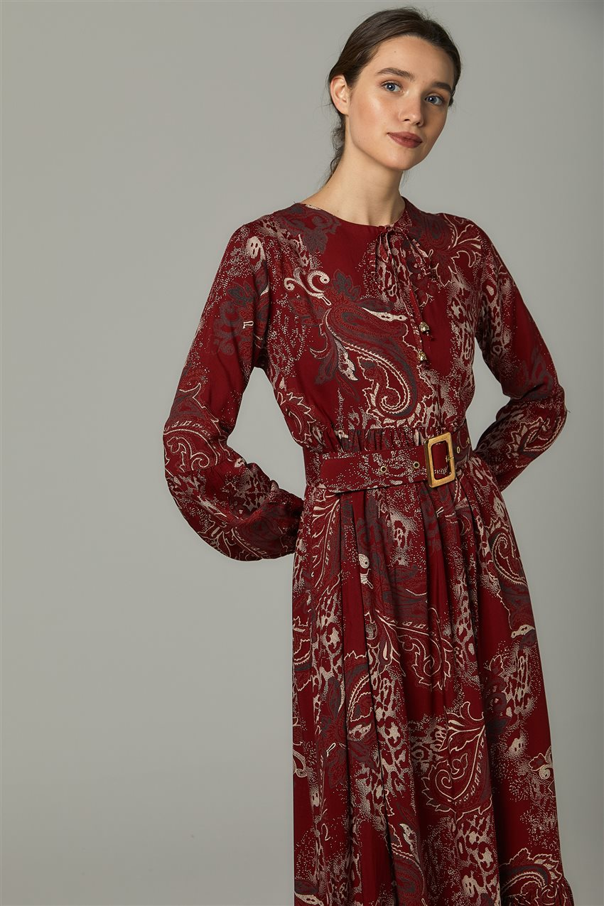 Dress-Claret Red US-0S5055-67 - 8