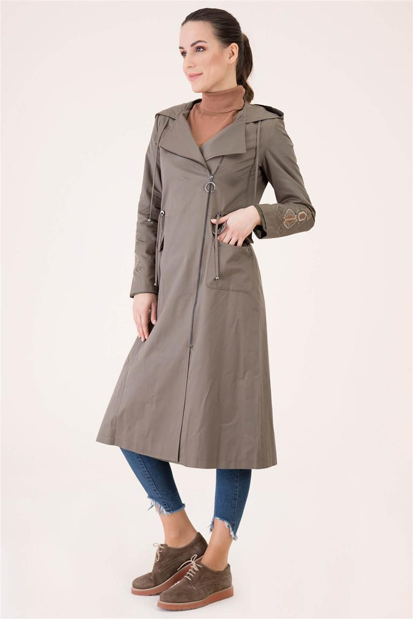 Khaki Trench Coat V18B6963 - 20