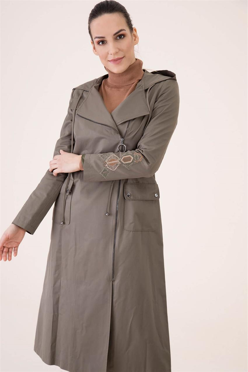 Khaki Trench Coat V18B6963 - 21