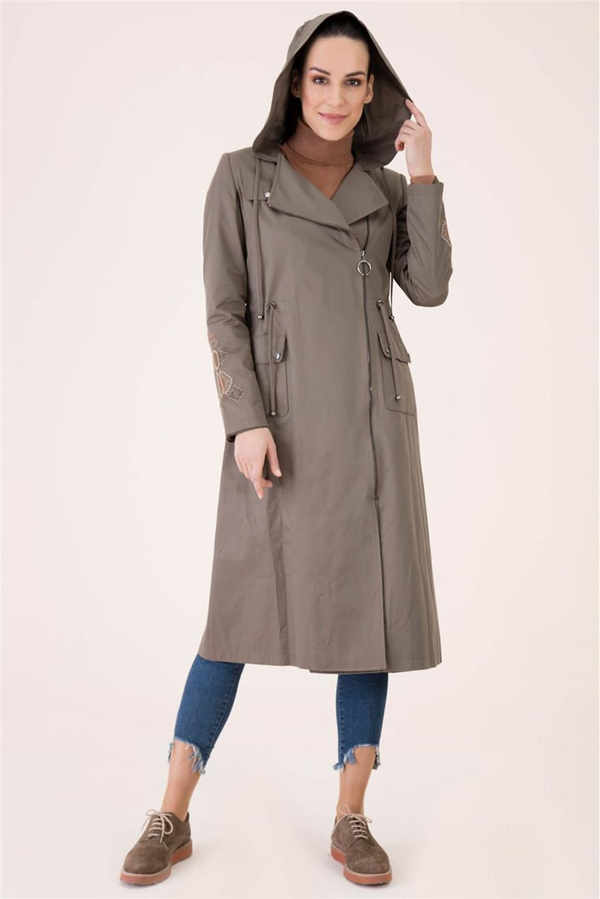 Khaki Trench Coat V18B6963 - 19
