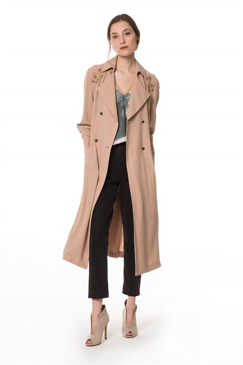 Beige Trench Coat V20YKAP26016 - 7
