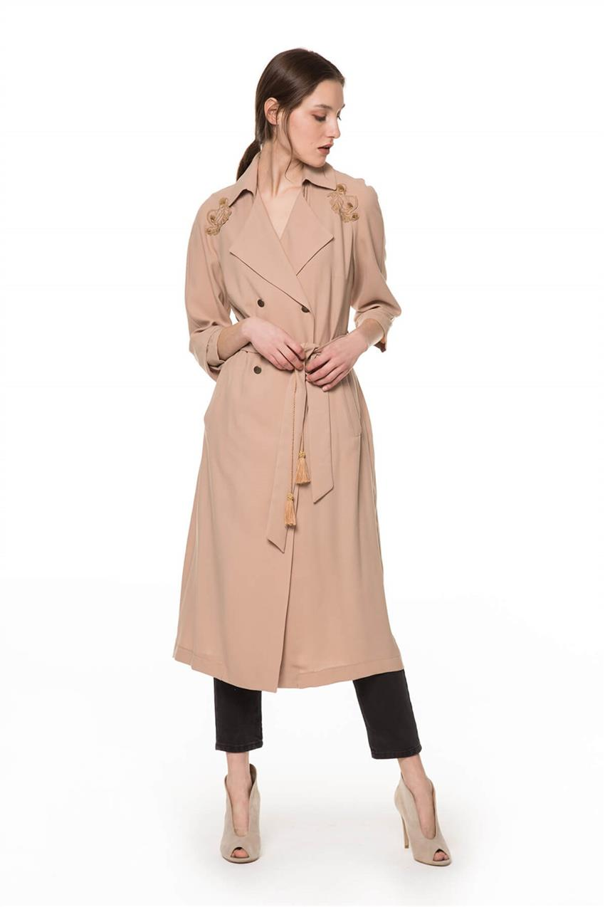 Beige Trench Coat V20YKAP26016 - 10