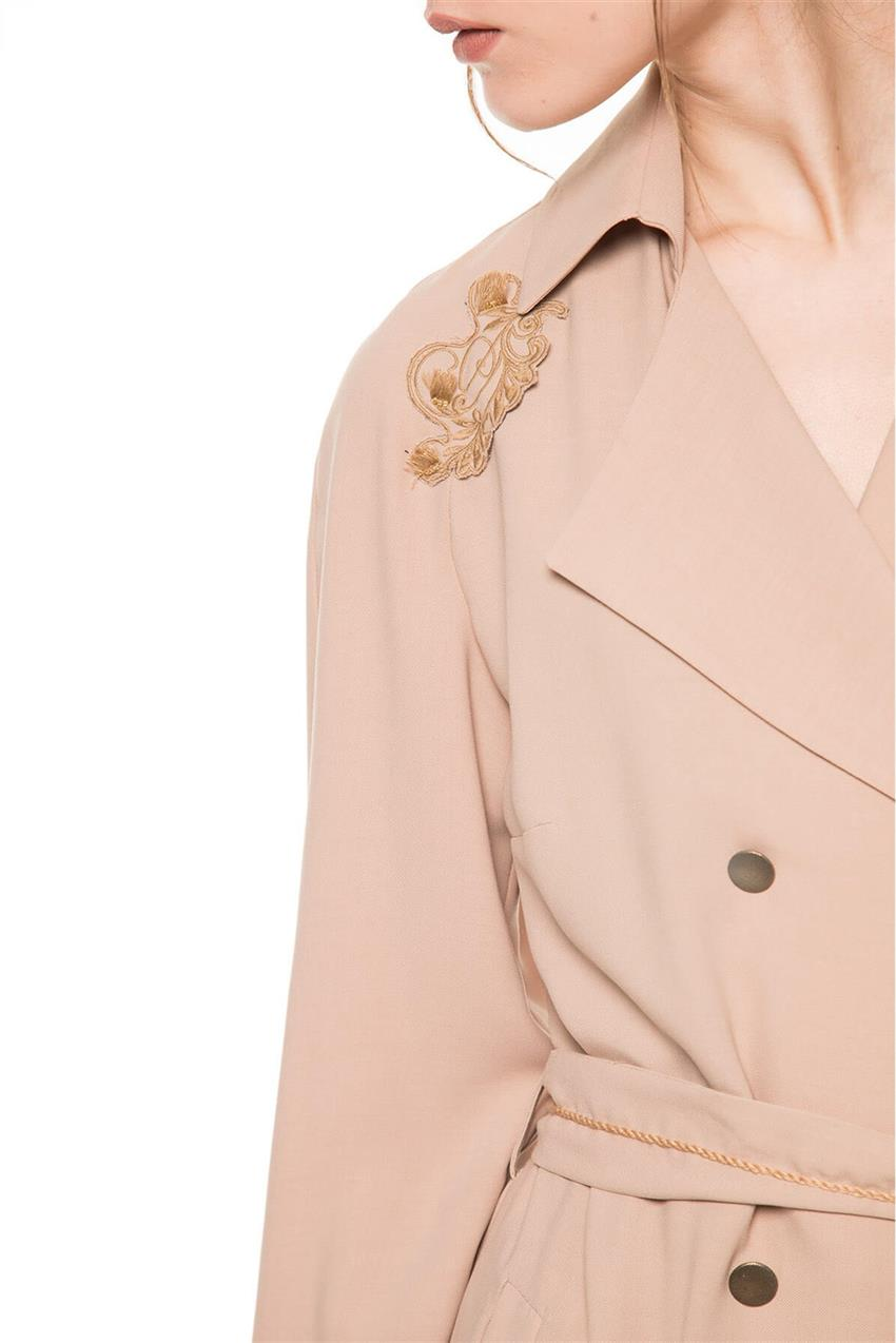 Beige Trench Coat V20YKAP26016 - 11