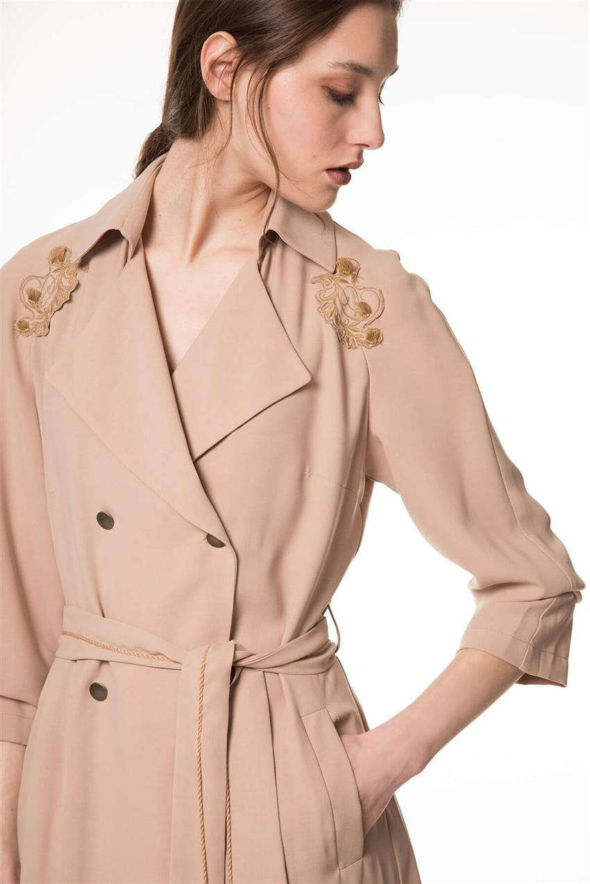 Beige Trench Coat V20YKAP26016 - 8