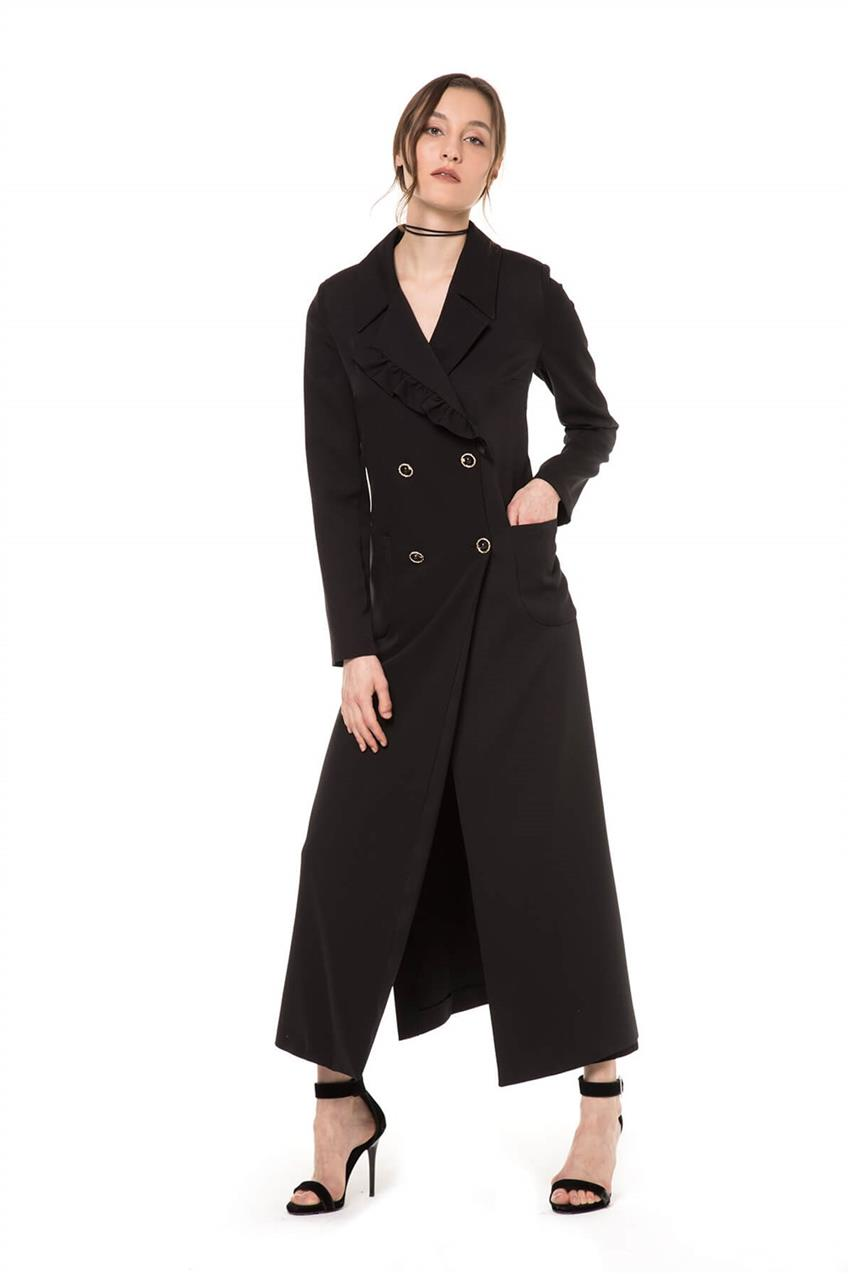 Black Trench Coat V20YKAP26020 - 9