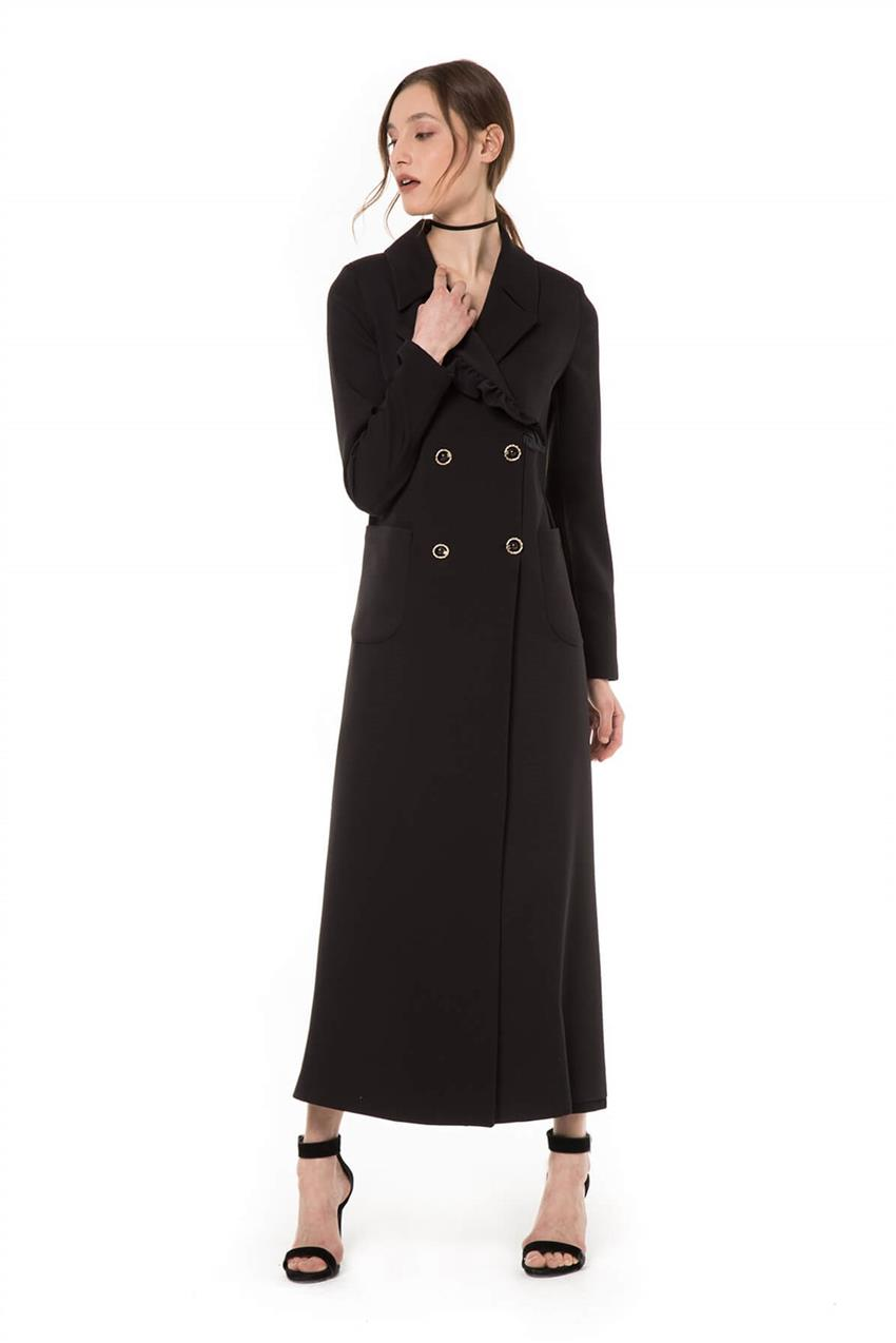 Black Trench Coat V20YKAP26020 - 8
