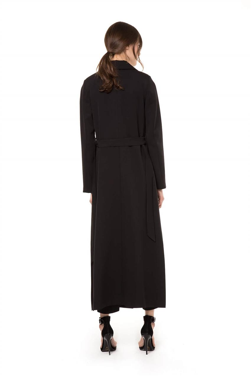 Black Trench Coat V20YKAP26020 - 12