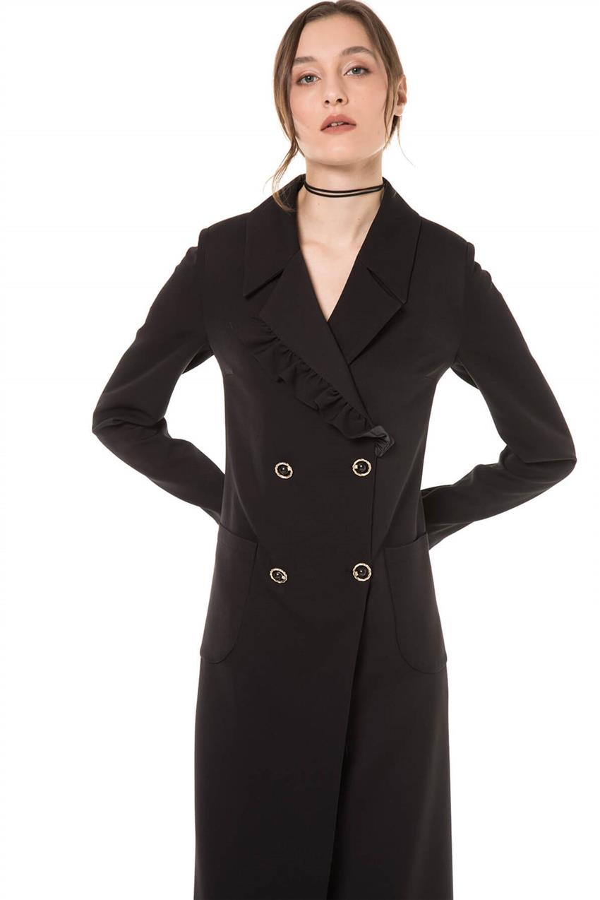 Black Trench Coat V20YKAP26020 - 7