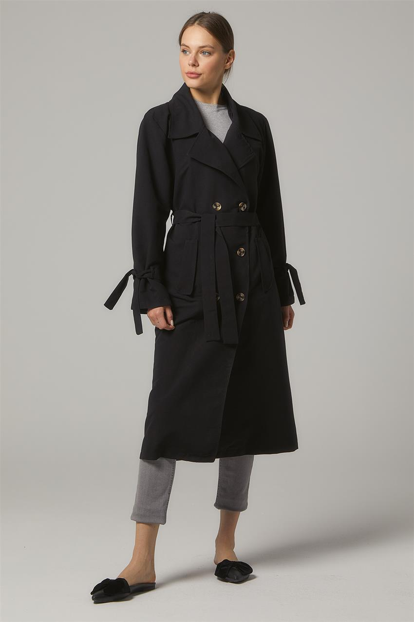 Trench Coat-Black PL-0W689-1 - 8