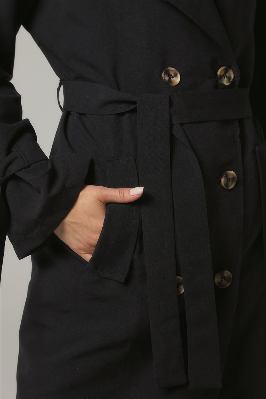 Trench Coat-Black PL-0W689-1 - 11