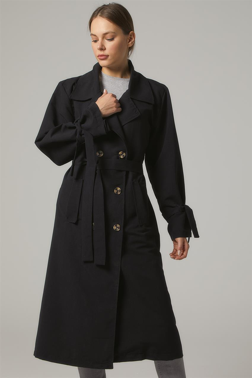 Trench Coat-Black PL-0W689-1 - 9