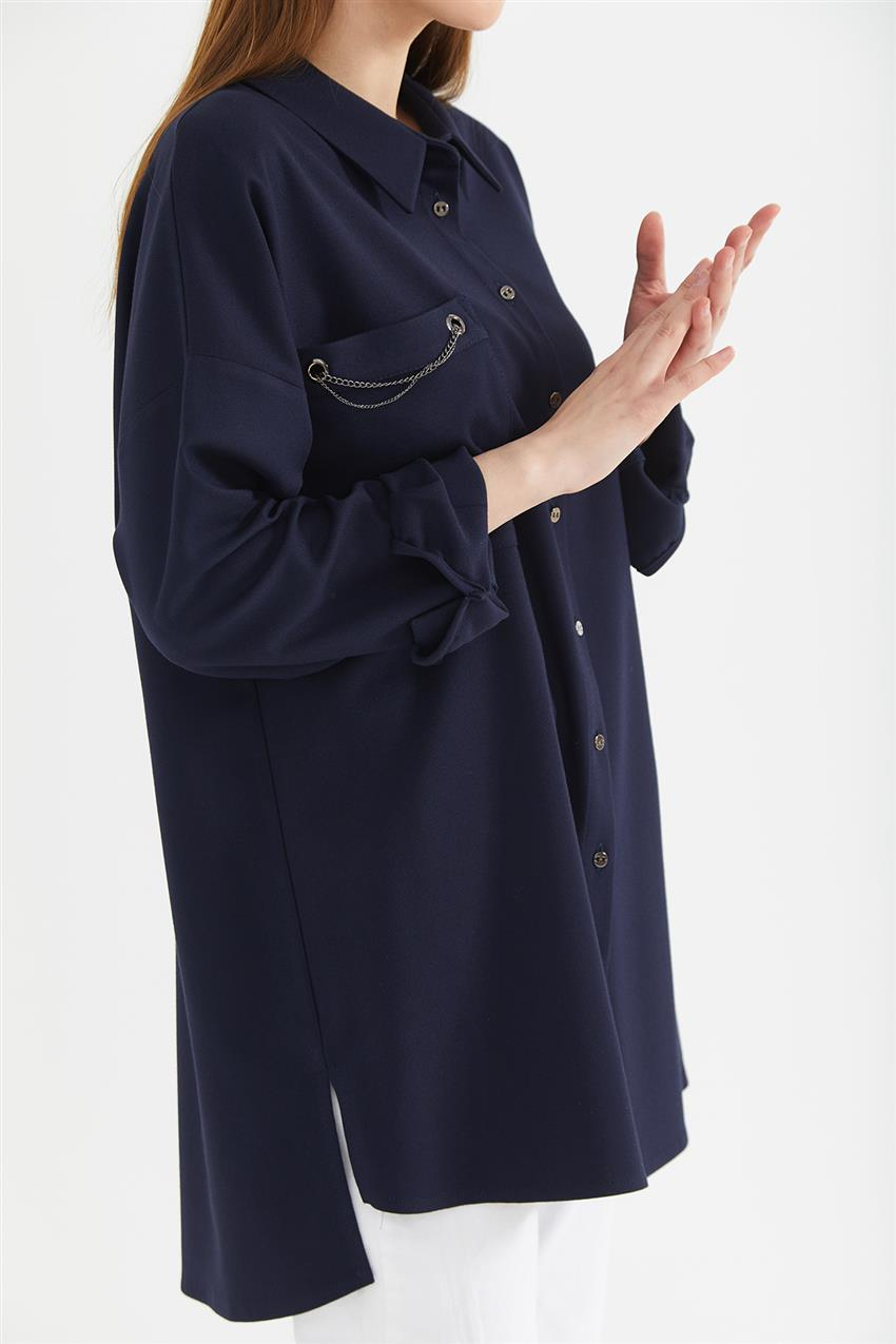 Tunic-Navy Blue KA-A20-21273-11 - 11