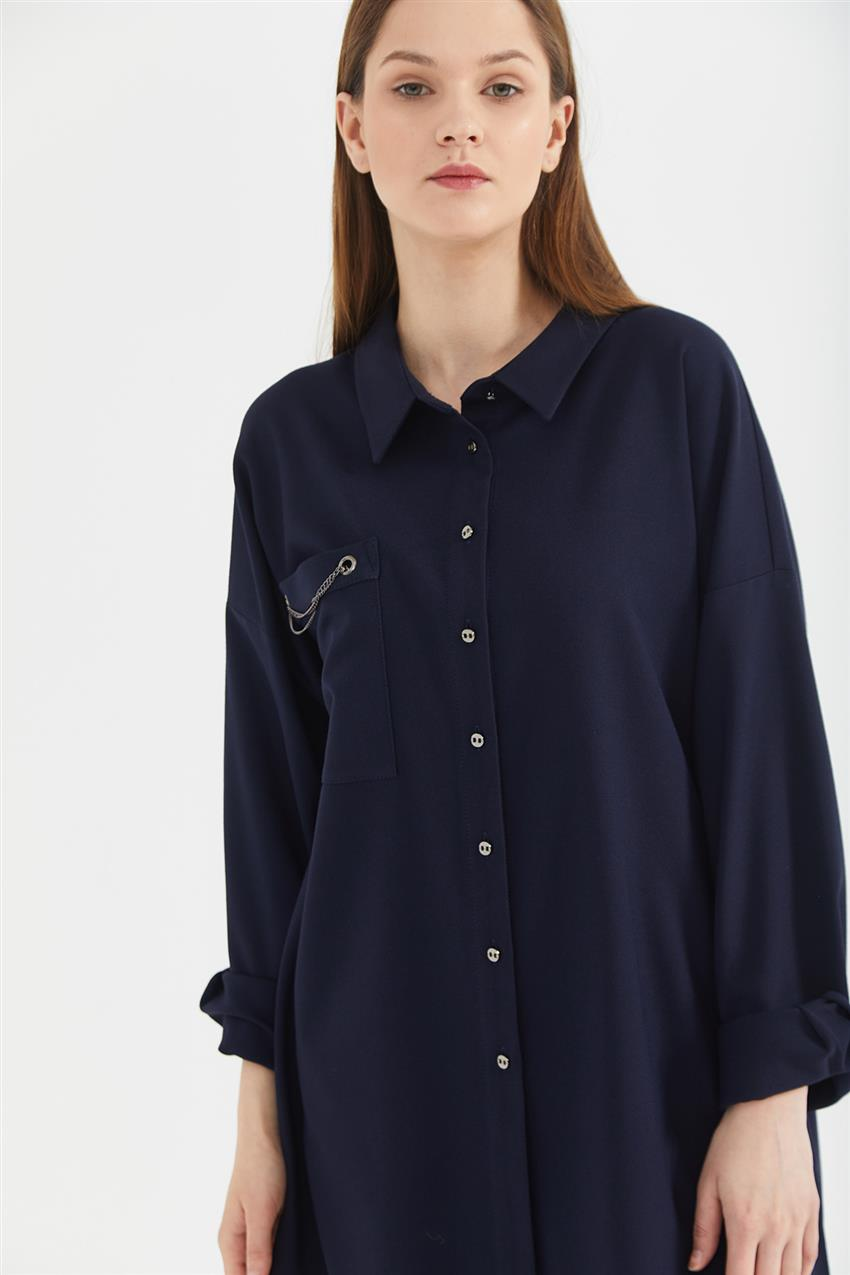 Tunic-Navy Blue KA-A20-21273-11 - 10