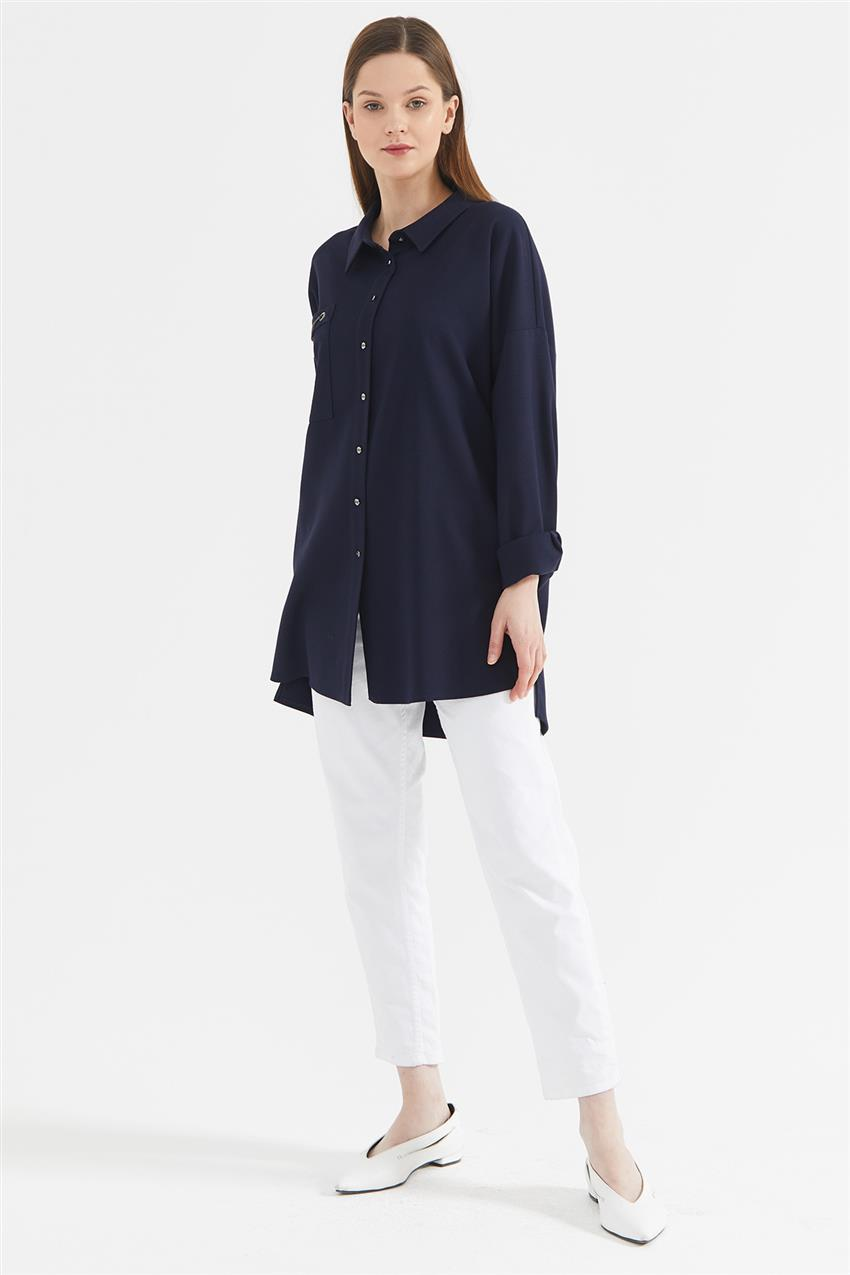 Tunic-Navy Blue KA-A20-21273-11 - 7