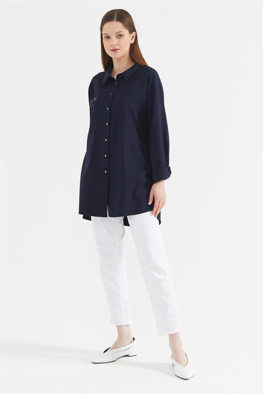 Tunic-Navy Blue KA-A20-21273-11 - 8
