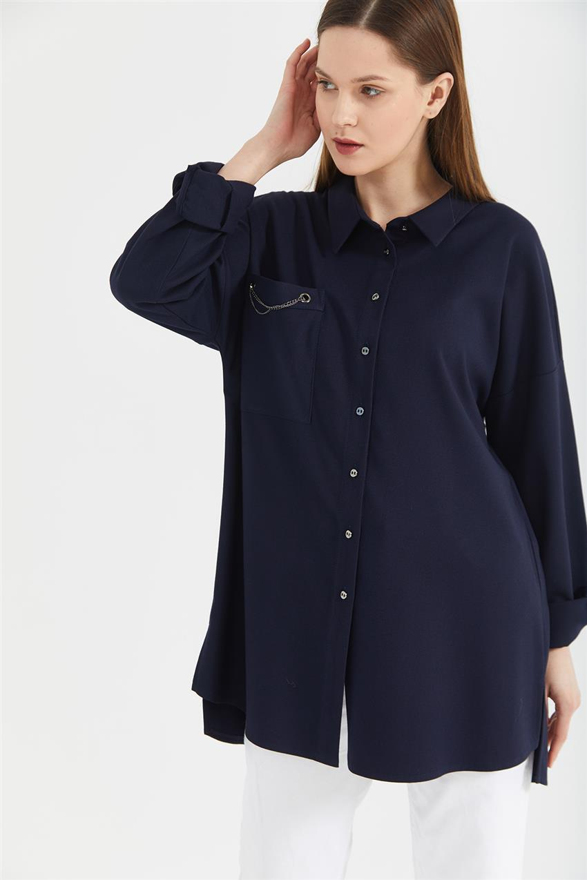 Tunic-Navy Blue KA-A20-21273-11 - 9