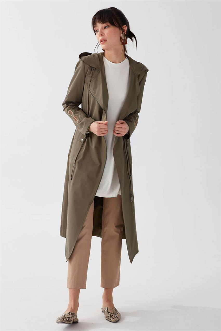 Khaki Trench Coat V18B6963 - 14