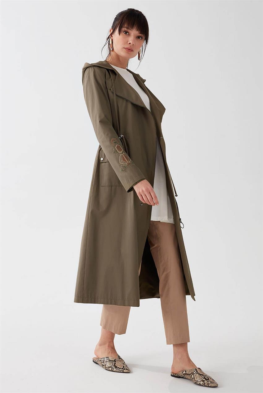 Khaki Trench Coat V18B6963 - 13