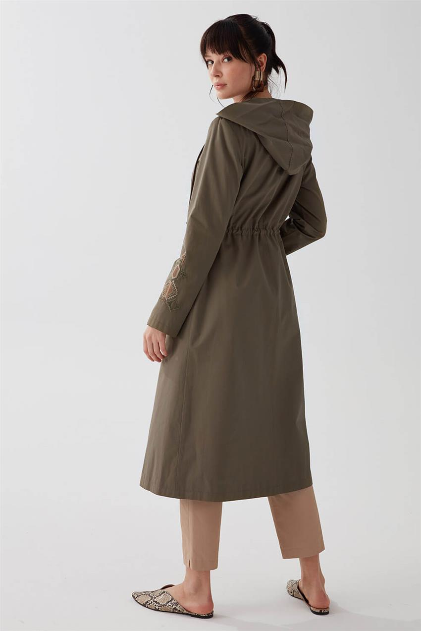 Khaki Trench Coat V18B6963 - 17