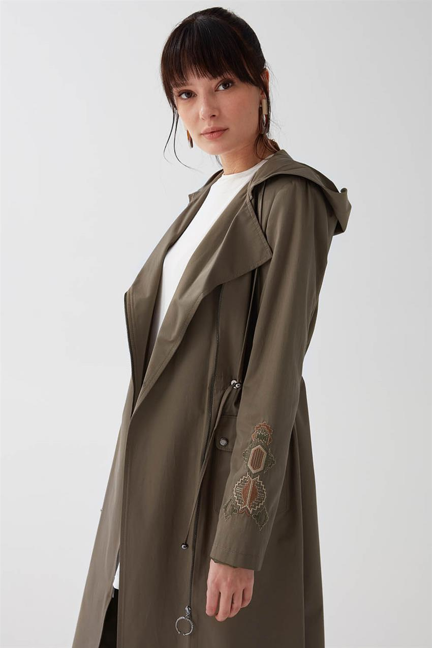 Khaki Trench Coat V18B6963 - 15