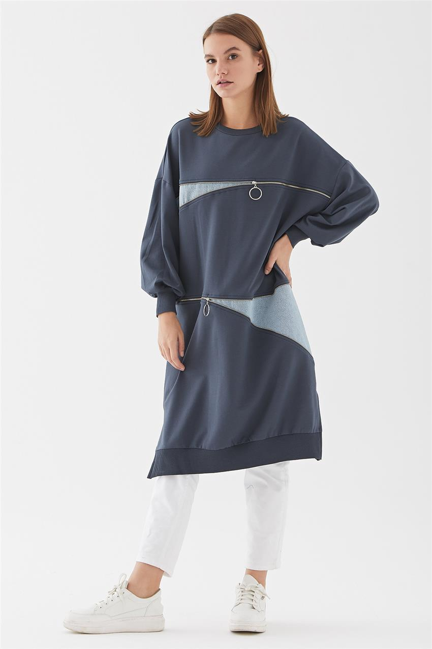 Tunic-Navy Blue 30609-17 - 7